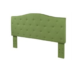 Furniture of America Saira Twin Fabric Tufted Headboard in Green