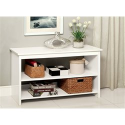 Furniture of America Coles Transitional Console Table in White