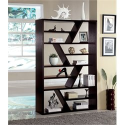 Furniture of America Israel Modern Bookcase in Espresso