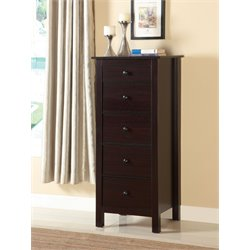 Furniture of America Weller 5 Drawer Accent Chest in Espresso