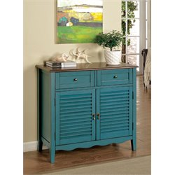 Furniture of America Alton Storage Shoe Cabinet in Blue