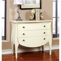 Furniture of America Alonzo 3 Drawer Accent Chest in White