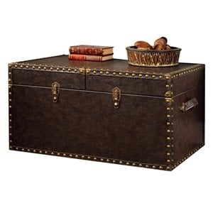 Furniture of America Lange Trunk Coffee Table in Antique Brown