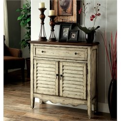 Furniture of America Merrill Accent Chest in Antique White