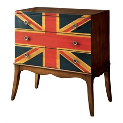 Furniture of America Sleet Flag Accent Chest in Brown