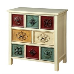 Furniture of America Kerry Accent Chest in Antique White