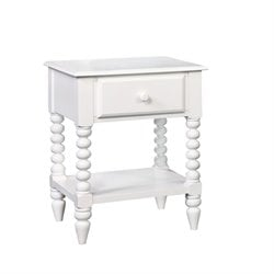 Furniture of America Epperson 1 Drawer Nightstand in White