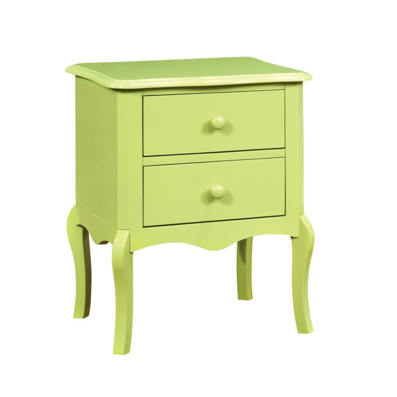 Furniture Of America Torrez 2 Drawer Nightstand In Apple