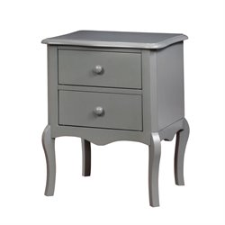 Furniture of America Torrez 2 Drawer Nightstand in Gray