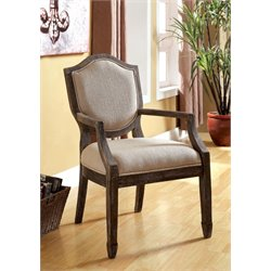 Furniture of America Beatrice Fabric Accent Chair in Gray