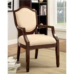Furniture of America Beatrice Fabric Accent Chair in Walnut