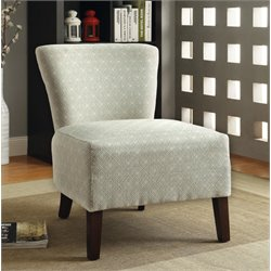 Furniture of America Dwayne Fabric Accent Chair in Ivory