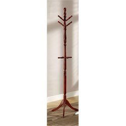 Furniture of America Kimble Transitional Coat Rack in Cherry