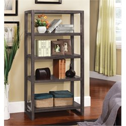 Furniture of America Struan Modern 5 Shelf Bookcase in Espresso