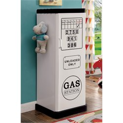 Furniture of America Mars Metal Kids Wardrobe Armoire in White
