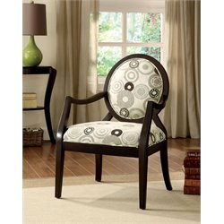 Furniture of America Pursel Fabric Accent Chair in Espresso