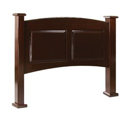Furniture of America Legales King Curved Panel Headboard in Cherry