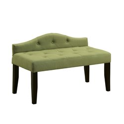 Olivia Linen Tufted Bedroom Bench 1