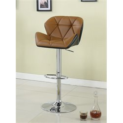 Furniture of America Sarvis Adjustable Swivel Faux Leather Bar Stool