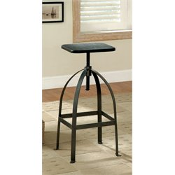 Furniture of America Bohnshack Adjustable Swivel Counter Stool