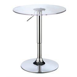 Furniture of America Emmett Modern Round Pub Table in White