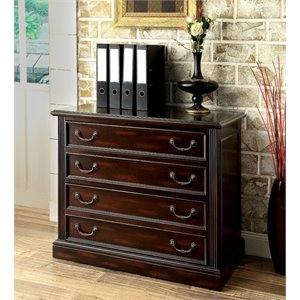 Furniture of America Kurtis Transitional File Cabinet in Cappuccino