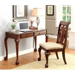 Furniture of America Jorge Writing Desk and Chair Set in Cherry