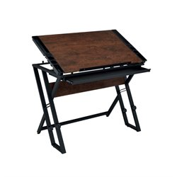 Furniture of America Harrop Adjustable Drafting Desk in Espresso