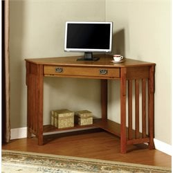 Furniture of America Jeremy Corner Computer Desk in Oak