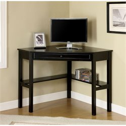 Furniture of America Jamel Modern Corner Computer Desk in Black