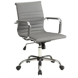 Furniture of America Axelson Leather Office Chair in Gray