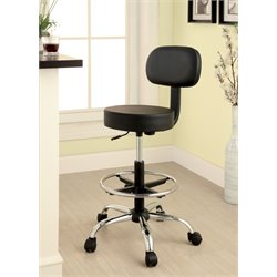 Furniture of America Imai Leather Office Chair in Black