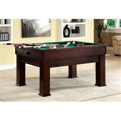Furniture of America Mairano Pool Table in Dark Cherry