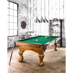 Furniture of America Saintez Pool Game Table in Oak
