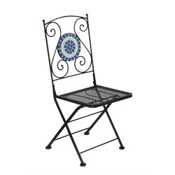 Furniture of America Catlin Patio Chair in Black