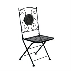Furniture of America Ceanna Patio Chair in Black