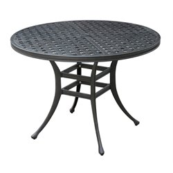 Furniture of America Gamilt Patio Round Bistro Table in Black