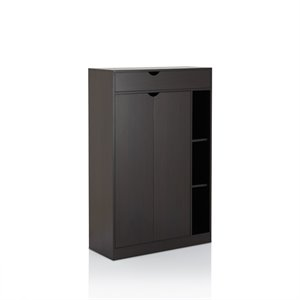 Furniture of America Schiffelben Modern Shoe Cabinet in Cappuccino