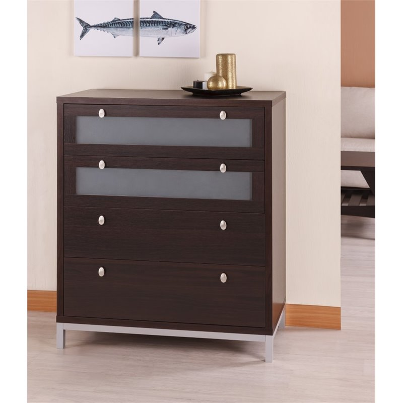 Furniture Of America Joya 4 Drawer Storage Chest In Espresso