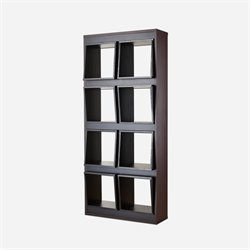 Furniture of America Dodson 8 Cubby Modern Bookcase in Espresso