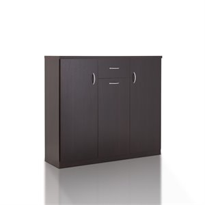 Furniture of America Morris Modern Shoe Cabinet in Espresso