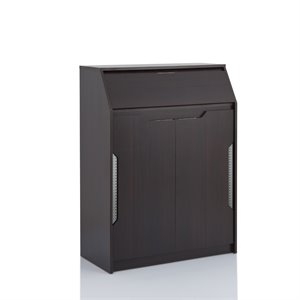 Furniture of America Blakely Shoe Cabinet in Espresso