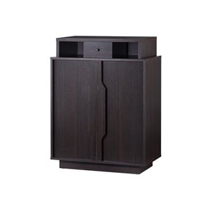 Furniture of America Seinster Shoe Cabinet in Espresso