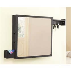 Furniture of America Lyndell Storage Mirror in Black