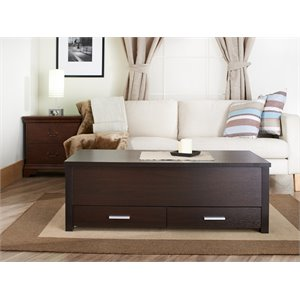 Furniture of America Wald Slide Top Coffee Table in Espresso