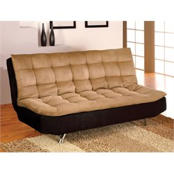 Furniture of America Blanforder Futon in Tan and Black