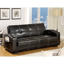 Furniture of America Murray Futon in Black