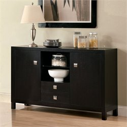 Furniture of America Bruce Server in Espresso