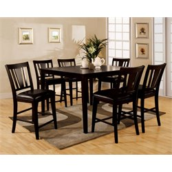 Furniture of America Mendler 7 Piece Counter Height Dining Set