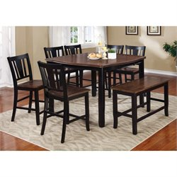 Delila 8 Piece Counter Height Dining Set